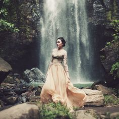 """BRENDA WAWORGA on Instagram: """"""""Sometimes you'll find the hidden message in every waterall, it says: if youre flexible, so falling not hurt you"""" model by @gabynelwan taken at Tunan Waterfall, North Sulawesi 