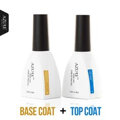 Brand New Azure Diamond Nail Gel Top Coat Top it off + Base Coat