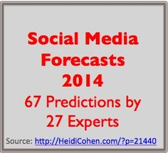 2014 Social Media Predictions From 27 Experts