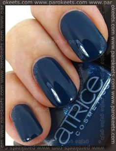 One of my favorite blue nail polishes - Catrice Hip Queens Wear Blue Jeans. http://www.parokeets.com/en/2011/01/catrice-absolutely-chinchilly-and-hip-queens-wear-blue-jeans/