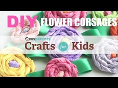 Flower corsages from tissue paper.