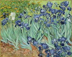 Irises - Painting by Vincent van Gogh. Irises is an important painting by ... vangoghpaintings.net