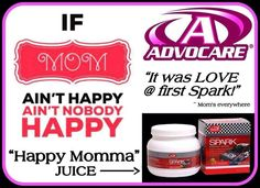 Happy Momma Juice! Advocare - email me at srausch34@gmail.com or visit my website :: https://www.advocare.com/130738257/default.aspx if you have any questions