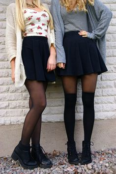 skater skirt outfit tumblr - Google Search