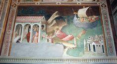 Agnolo Gaddi - Storie di San Nicola: miracolo della coppa d'oro - affresco - 1385 - Cappella Castellani - Basilica di Santa Croce a Firenze