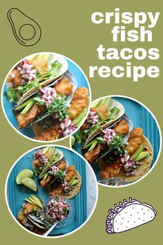 The classic fish taco is taken to whole new heights with the addition of crispy beer batter and minced radish pico de gallo! Flaky fish dipped in a simple beer batter then quickly fried makes THE BEST fish tacos. The fresh crunch of radish pico de gallo adds the perfect finishing touch. #fishtacos #beerbatter #bajafishtacos #fish #radish #picodegallo