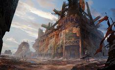 废弃工厂, zhao zhixian on ArtStation at https://www.artstation.com/artwork/lNqEk