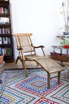Antique Folding Steamer Deck Chair Circa 1900