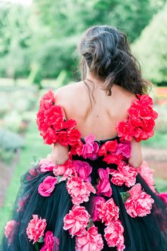 Fuchsia and Coral Peonies | Newbury Photographs | Greenhouse Shoot with a Floral Wedding Dress