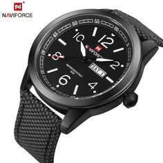 ee2d88f2f16 NAVIFORCE Original Luxury Brand Sports Military Quartz Watch Man Analog  Date Clock Nylon Strap Wristwatch Relogio