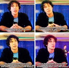 Bellarke #The100.... Yeah but they both echo that it's not an attraction love. It's a friendship and loyalty and deep love that doesn't mean it's physical. They may just always work best as friends who love each other deeply.