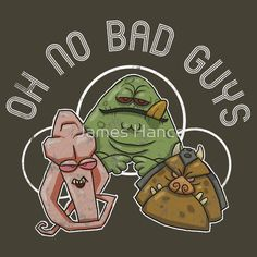 """OH NO BAD GUYS (Kitsch / Star Wars)"" T-Shirts & Hoodies by James Hance 