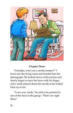 Grandpa Smoke Jumper | Kids A-Z Raz Kids, Kids Pages, Looking Back, Jumper, Smoke, Activities, Comics, Fictional Characters, Jumpers