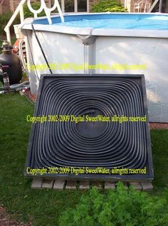 Solara Solar Pool Heating Panels | Finished Solar Pool Heater panel above. http://poolheater.org.uk