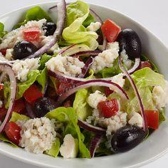 Greek Crab Salad The delightful taste of the Mediterranean comes alive in this irresistible salad.