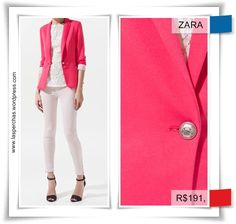 blazer rosa - Pesquisa Google Blazer Shirt, Breast, Suit Jacket, Suits, Jackets, Men, Fashion, Pink, Down Jackets