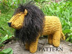 Waldorf Toy, Lion Toy Knitting Pattern (PDF). $5.00, via Etsy.