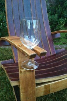 Perfect lawn chair for wine drinkers! www.bbbseed.com