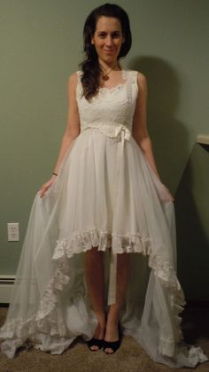 Local Marquette fashion designer Lanni Lantto - custom upcycled wedding dress!