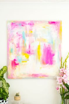 Fall For DIY | DIY Abstract Artwork