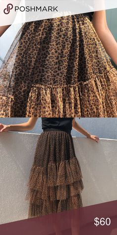 c95359ea58 NEW Leopard Skirt New leopard Skirt Size small Boutique brand- no price tag  (NOT ZARA) Skirts Midi
