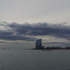 La #Barceloneta #beach, W #hotel #view