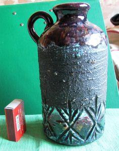 Vintage Mid Century VASE Tilgmans Sweden Stoneware retro Pottery Scandinavian