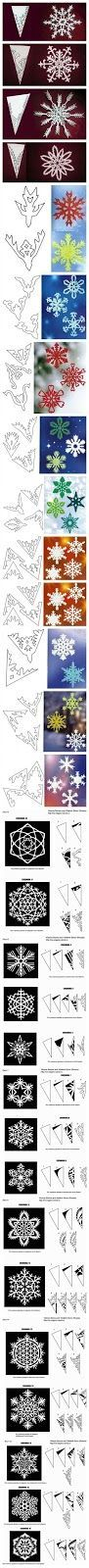 We do this every year… and it's always a huge mess. one year my son kept cutting gun shapes and went around and shot us… but this year I thought we could try some patterns… first: I wanted to show you how I fold my paper to cut snowflakes…. square looks best so always cut your …