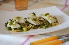 filetti di platessa con zucchine emandorle