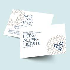 Save the Date Karten: Herzallerliebst - total im Trend mit grafischen Herzen. Farben änderbar! Save The Date Karten, Dating, Card Wedding, Invitations, Heart, Diy, Colors, Ideas, Qoutes