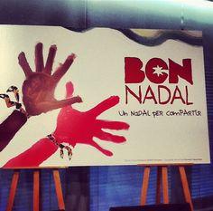 Nadal Solidari: La grafia de la campanya de #Nadalbcn és obra d'Anna Vives, una noia amb Síndrome de Down. Us la podeu descarregar per qualsevol processador de textos: www.annavives.net