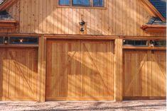 Barn Style Overhead Garage Door   Barn Style Overhead Garage Door with False Hinges, Matching Property ...