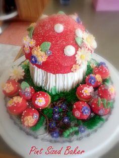 Giant Mushroom Tinker Bell Cake!