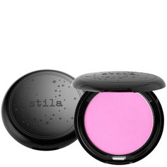The velvety formula of this Stila Custom Colour Blush magically smoothes the appearance of imperfections, leaving skin with a flawless flush. We heart this Pink shade! £13  #powder #blusher