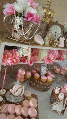 Gorgeous tea party baby shower party! See more party ideas at CatchMyParty.com!