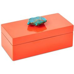Orange Box w/ Turquoise Jasper Medium Boxes ($85) ❤ liked on Polyvore