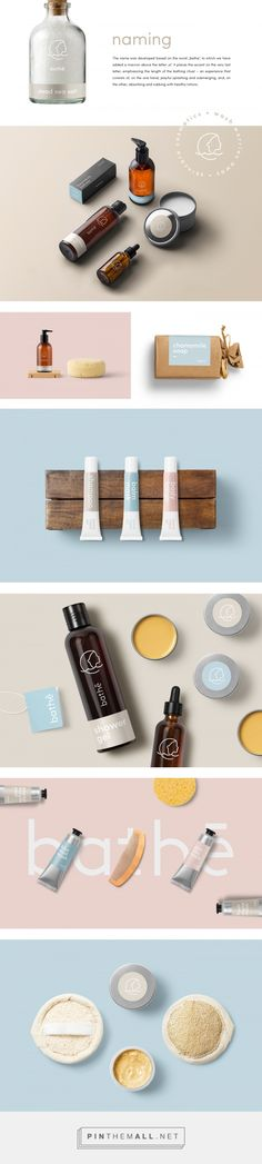 Bathē - bathing cosmetics logo, name and branding on Behance... - a grouped images picture - Pin Them All