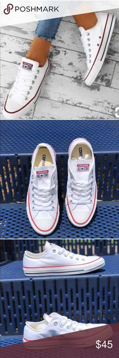 White Converse Chuck Taylor Allstar Sneakers sz 8 Converse Chuck Taylor All  Star White Low Top Sneakers Brand new in box Woman size 8 Men size 6  Converse ... 7b5eee940
