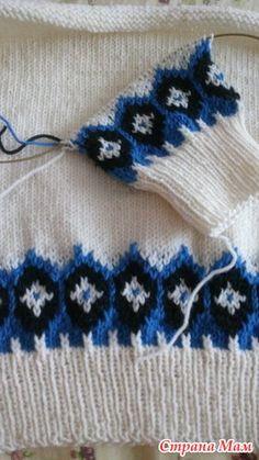 Свитер Лопапейса №1. Вяжем снизу вверх!!! - Жаккард - Страна Мам Knitting Paterns, Fair Isle Knitting, Baby Sweaters, Knit Crochet, Pullover, Pattern, Dots, Loom Knit, Breien