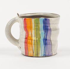Rainbow Mug by Noelle VanHendrick and Eric Hendrick: Ceramic Mug available at www.artfulhome.com