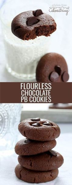 These flourless chocolate peanut butter breakfast cookies are gluten free, grain free, dairy free, packed with protein and a great start to the day! #healthy #breakfast #snack #glutenfree #gf #peanutbutter