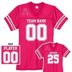 Custom Breast Cancer Awareness Football Jersey  breastcancerawareness   breastcancer  thinkpink  fcancer  footballmom  cheermom 9fe874719