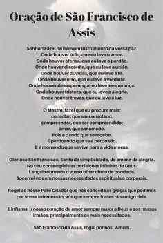Oração de São Francisco de Assis Oração Pela Saúde, Imagens De Oração,  Oração Saude 3db56fb930