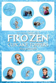 If you love the Disney movie, Frozen, then you're going to love these Frozen Cupcake Toppers. Print and cut to decorate your own Frozen Cupcakes!