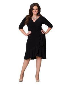 Whimsy Wrap Dress (2x, Black Noir)