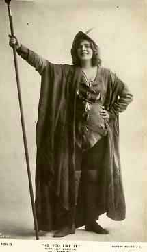 As You Like It: Lily Brayton (1876-1953) as Rosalind.
