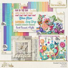 Digital scrapbooking kit - bundle is best buy! Sherwood Studio SWEET SUMMER http://www.thedigichick.com/shop/Sweet-Summer-Bundle.html