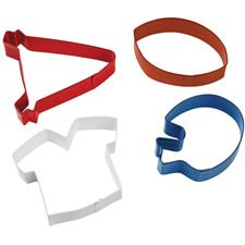 Football themed cookie cutters. I just want the shirt one...
