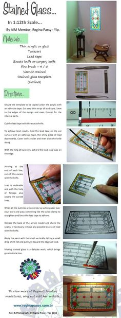 Realistic stained glass in miniature: