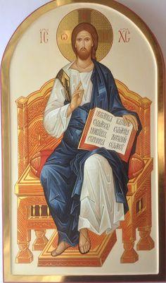 Cristo in Trono, 103x58 cm